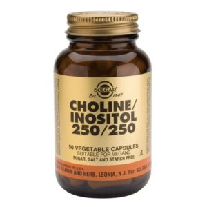 Choline and Inositol Vegicaps 250mg (50)