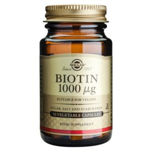 SOLGAR Biotin 1000ug 50 Vegetable Capsules