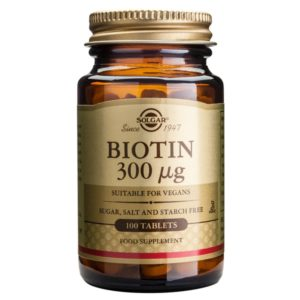 Solgar Biotin 300ug 100 Tablets