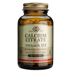 Solgar Calcium Citrate Vitamin D3 60 Tablets
