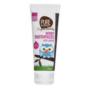 Pure Beginnings berry toothpaste with xylitol